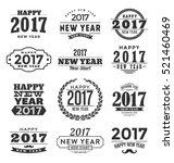2017   happy new year  ... | Shutterstock .eps vector #521460469