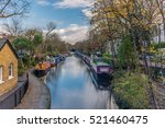 Water Canal And Reflections In...