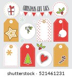 set of christmas gift tags with ... | Shutterstock .eps vector #521461231