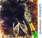 Splashing Bottle Of Champagne...