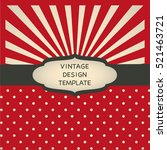 retro design template with... | Shutterstock .eps vector #521463721