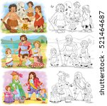 history of family. history of... | Shutterstock . vector #521464687