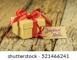 Christmas Gift Box With Red...