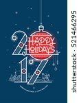 happy new year card  season's... | Shutterstock .eps vector #521466295