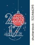happy new year card  season's... | Shutterstock .eps vector #521466295