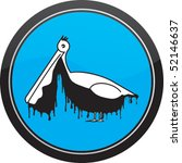 oil covered bird   sea pollution | Shutterstock .eps vector #52146637