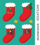 a set of christmas and new year ... | Shutterstock .eps vector #521471245
