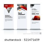 business vector set of modern... | Shutterstock .eps vector #521471659