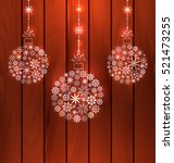 illustration christmas balls... | Shutterstock .eps vector #521473255