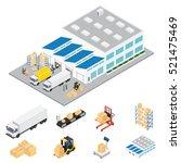 warehouse industrial area... | Shutterstock .eps vector #521475469