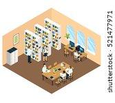 student library isometric... | Shutterstock .eps vector #521477971