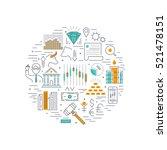 stock market linear round... | Shutterstock .eps vector #521478151