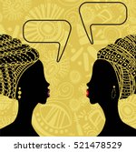 ethnic african background with... | Shutterstock .eps vector #521478529
