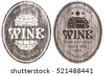 set of vector wine labels with... | Shutterstock .eps vector #521488441