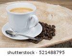 creamy coffee from espresso...   Shutterstock . vector #521488795