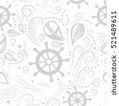 vector seamless pattern marine... | Shutterstock .eps vector #521489611