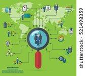 human resources   conceptual... | Shutterstock .eps vector #521498359