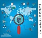 human resources   conceptual... | Shutterstock .eps vector #521500891