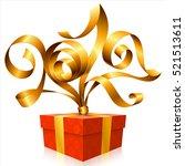 vector golden ribbon and gift...   Shutterstock .eps vector #521513611