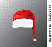 vector cartoon funky red santa... | Shutterstock .eps vector #521519365