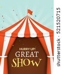 circus tent poster. circus... | Shutterstock .eps vector #521520715