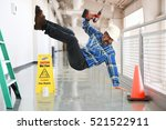 construction worker falling off ... | Shutterstock . vector #521522911