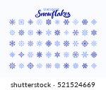 50 snowflake winter set of... | Shutterstock .eps vector #521524669