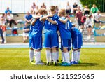 young boys sports team on... | Shutterstock . vector #521525065