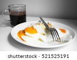 fried eggs with coffee  for...