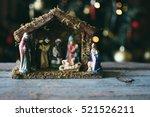 Christmas Manger Scene With...