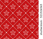 christmas seamless pattern... | Shutterstock .eps vector #521526565