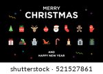 christmas greeting card with... | Shutterstock .eps vector #521527861