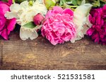 Fuchsia  Pink And White Peonies ...