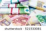 lots of cash money.  euros.... | Shutterstock . vector #521533081