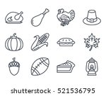 thanksgiving day icon outlined... | Shutterstock .eps vector #521536795