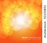 glittering orange lights... | Shutterstock .eps vector #52153852