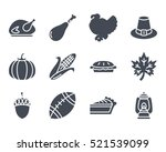 thanksgiving day solid glyph... | Shutterstock .eps vector #521539099