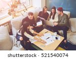 young team of freelancers... | Shutterstock . vector #521540074