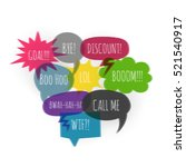 collection comic text color... | Shutterstock .eps vector #521540917