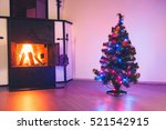 christmas tree with lights...   Shutterstock . vector #521542915