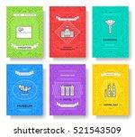 singaore thin line brochure... | Shutterstock .eps vector #521543509