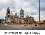 cathedral and zocalo decoration ... | Shutterstock . vector #521545027