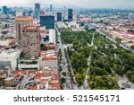 aerial view of mexico city... | Shutterstock . vector #521545171