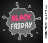 black friday sale red splash on ... | Shutterstock .eps vector #521545867