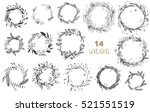 vector big collection of hand... | Shutterstock .eps vector #521551519