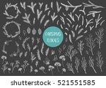 vector hand drawn big... | Shutterstock .eps vector #521551585