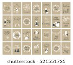 vector big collection of hand... | Shutterstock .eps vector #521551735