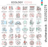 vector ecology color line... | Shutterstock .eps vector #521552275