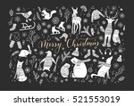 vector big collection of hand... | Shutterstock .eps vector #521553019