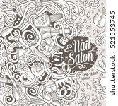 cartoon cute doodles hand drawn ... | Shutterstock .eps vector #521553745